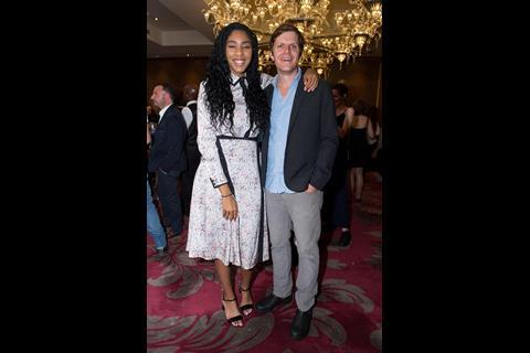 Actress Jessica Williams with director Jim Strouse of The Incredible Jessica James